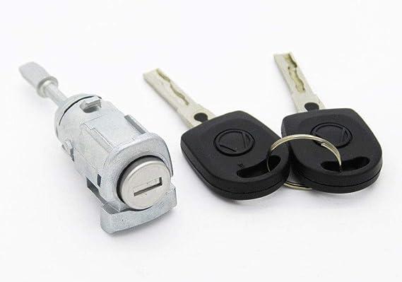 Kit Cerradura + barillet para puerta delantera izquierda VW Golf 4 ...