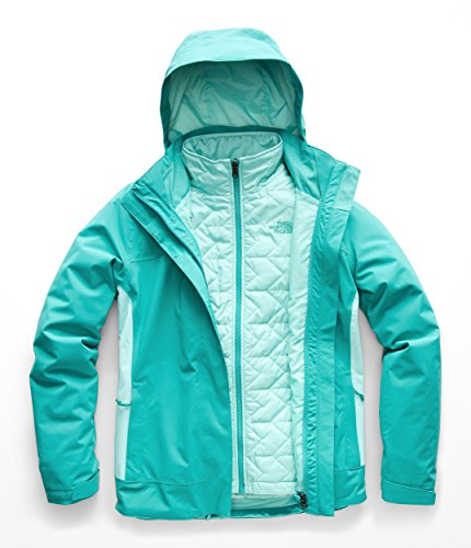 The North Face Women's Carto Triclimate Jacket - Kokomo Green & Mint Blue - M ()