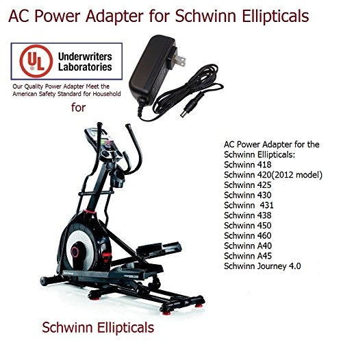 AC DC Power Adapter for Schwinn Ellipticals 418 420 425 430 431 438 450 460 A40 A45 Journey 4.0 Models