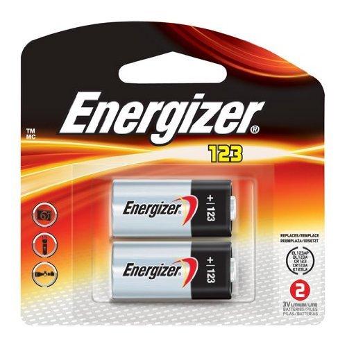 Energizer EL123APB-2 3-Volt Lithium Photo Battery (2-Pack) 2 Lithium Photo Batteries