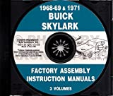1968 1969 & 1971 BUICK SKYLARK ASSEMBLY INSTRUCTION MANUAL On A CD-Rom Covers Special & Special Deluxe