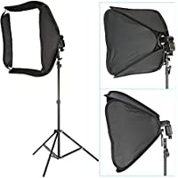 Neewer Professional Protable Off-Camera Flash Softbox & Stand Kit for Nikon SB900 SB800 SB600, Canon 580EXII 580EX 430EXII 430EX, Neewer TT860, TT850, TT560, Yongnuo, Nissin, Pentax, Olympus and Other Speedlite with Universal Hotshoe, includes: (1) 24x24/60x60cm Speedlite Softbox + (1) L-shaped Bracket & Flash Ring + (1) Outer White Cover + (1)9ft / 260cm Photo Studio Light Tripod Stand + (1) Carrying Case