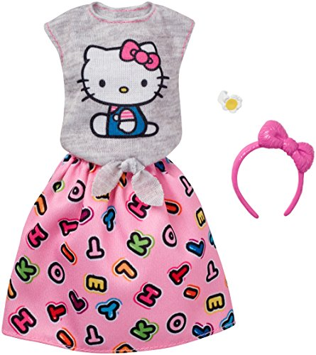 Barbie Fashions Hello Kitty Gray Top & Pink Skirt]()