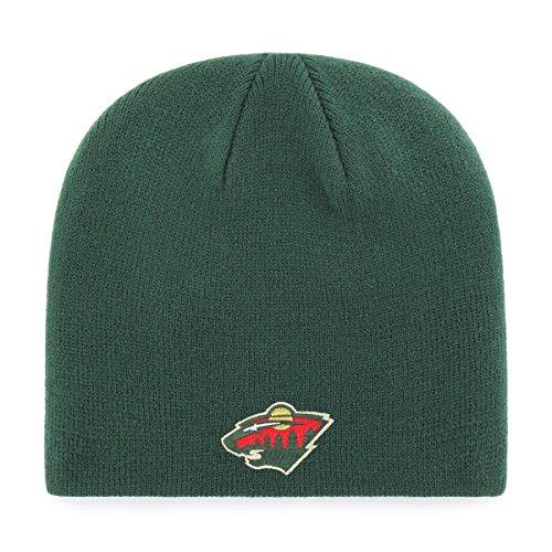 OTS NHL Minnesota Wild Beanie Knit Cap, Dark Green, One Size