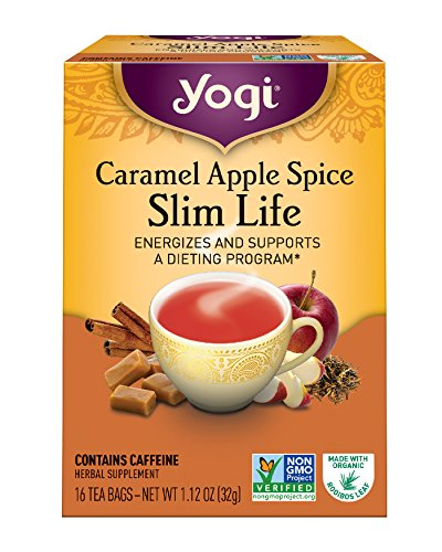 Yogi Caramel Apple Spice Slim Life Tea, 16 Tea Bags, 1.12 Ounce,...