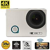 2.0 inch LED HD Camera 4K Ultra Wifi Action Cam Novatek NTK96660 170 Degree Wide Angle 30m Waterproof Video Camera