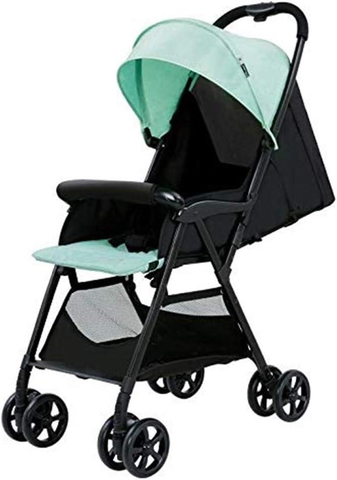 観光ベビーカー 軽い子車 軽量冬と夏のベビーカー、トラベルシステム、折り畳み式ベビーカーベビーカーコレクションボタンは、0-3歳の赤ちゃんに適して20キロ、缶シット高い景観ベビーカーに保持することができ (Color : B)