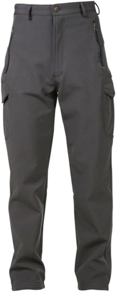 REEBOW GEAR Mens Pro Action Waterproof Soft Shell Warm Fleece Lined Cargo Walking Trousers