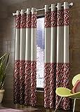 Cozyland 2 Piece Polyester Long Door Curtain Set - 9ft, Maroon