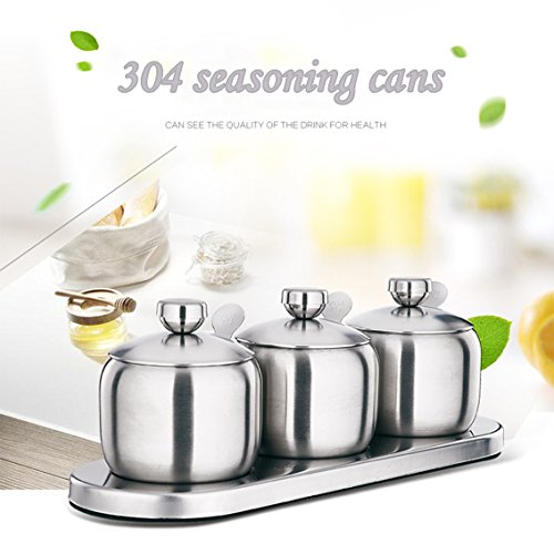 Kitchen Stainless Seasoning Containers Organizers product image