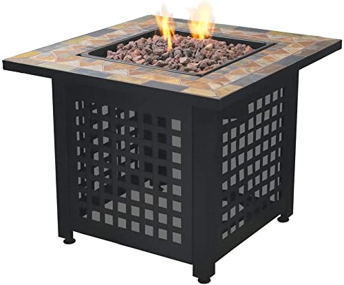 Endless Summer Propane Powered Square Outdoor Patio Firetable