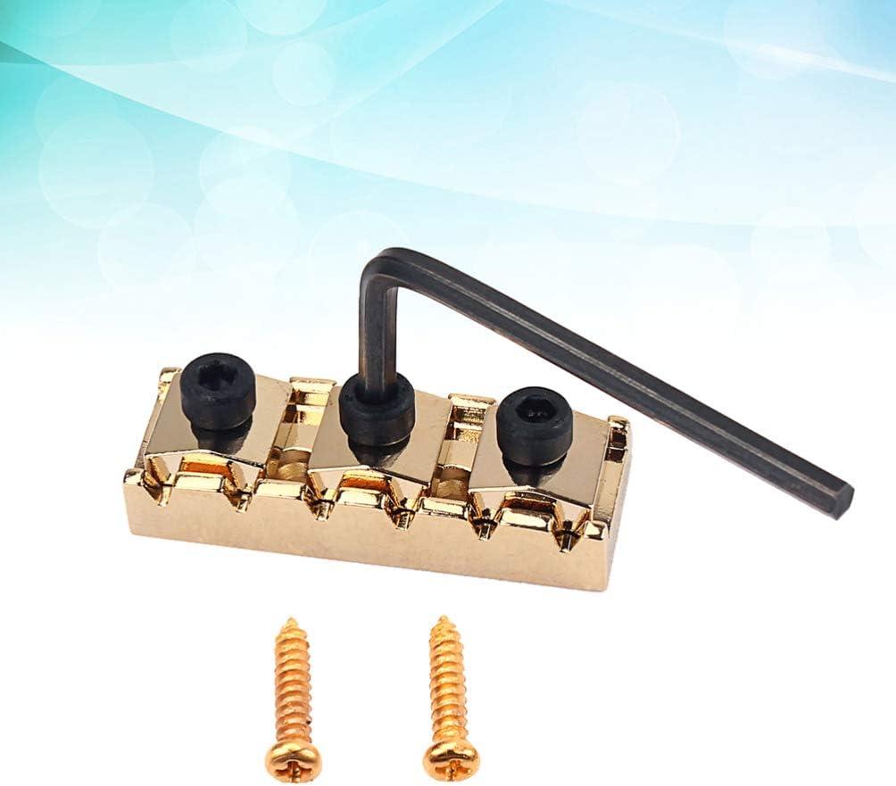 Healifty Guitar Parts Strings Locked Nut Metal String Lock Locking Nut for Electric Guitar Parts Accessories 42mm Golden
