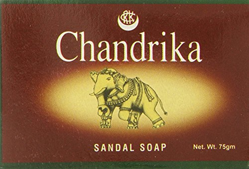 Chandrika Sandal Soap, (75 Gram) (Pack of 10) | Contains coconut oil and sandalwood extract