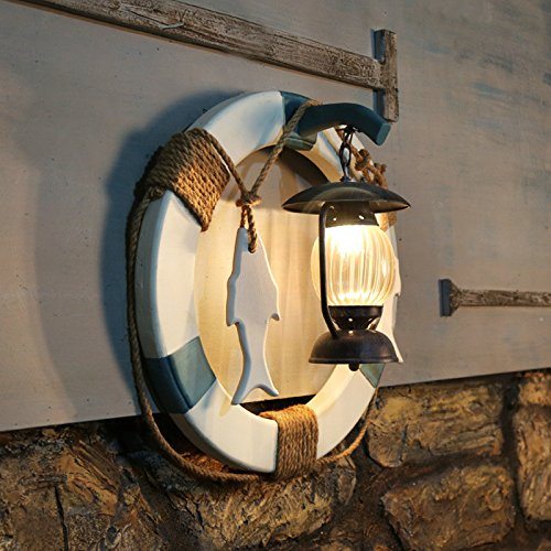 Mediterranean Cafe Bar Lamp Wall Lamp Creative Nordic Club Theme Restaurant Art Decorative Wall LIght 600600Mm Outdoor Kids Living Room Bedroom Wedding Birthday Party Gift