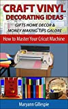 Craft Vinyl Decorating Ideas Gifts Home Decor and Money Making Tips Galore: Cricut Projects With Vinyl to Sell (How to Master Your Cricut Machine Book 2)