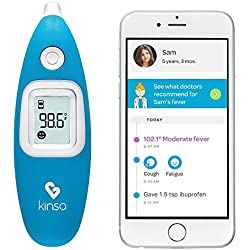 Kinsa Digital Smart Ear Thermometer for Baby, Kid and Adult