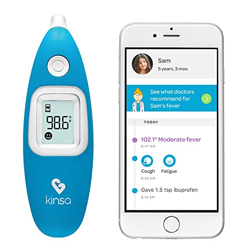 Kinsa Digital Smart Ear Thermometer for Baby, Kid and Adult by Kinsa