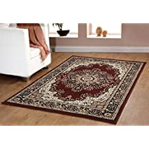 Traditional Oriental Medallion Area Rug Persian Style Carpet Brown Maharaja 605 furnishmyplace- 5'x8'