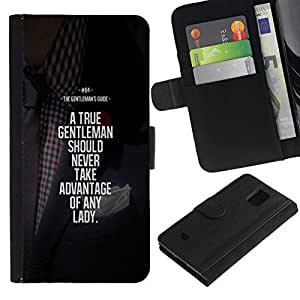 All Phone Most Case / Oferta Especial Cáscara Funda de cuero Monedero Cubierta de proteccion Caso / Wallet Case for Samsung Galaxy S5 Mini, SM-G800 // motivación ventaja caballero