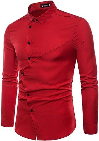 Discount Boutique Primavera y otoño Nueva Camisa de Manga Larga para Hombres Tendencia de Moda Personalidad Bordado Salvaje Camisa de Solapa Delgada Ropa de Hombre: Amazon.es: Ropa y accesorios