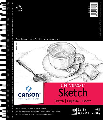 "Canson Universal Sketch Pad, Side Wire Bound, 9"" x 12"""