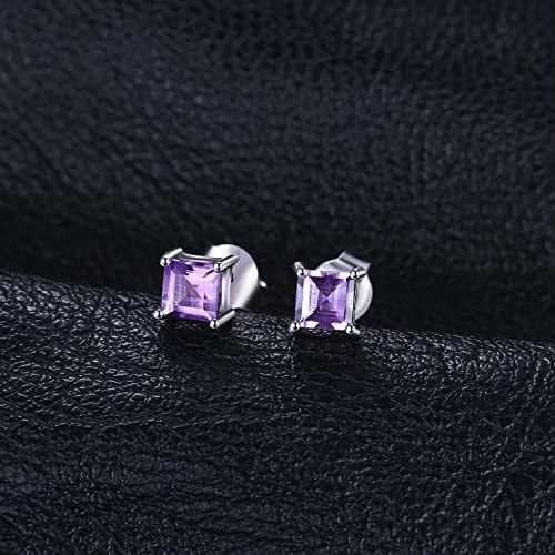 jewelrypalace 0.86/ct colombe sang rouge taille Princesse neuf Place synth/étique Rubis Saphir /émeraude Boucles doreilles Femme Argent 925