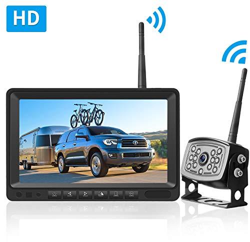 LeeKooLuu HD Digital Wireless Backup Camera 7''Monitor Highway Observation System