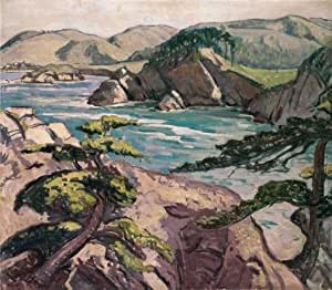 Oil painting 'Henry Varnum Poor,Seascape,1888-1970' printing on high quality polyster Canvas , 20x23 inch / 51x58 cm ,the best Bedroom artwork and Home artwork and Gifts is this Best Price Art Decorative Canvas Prints