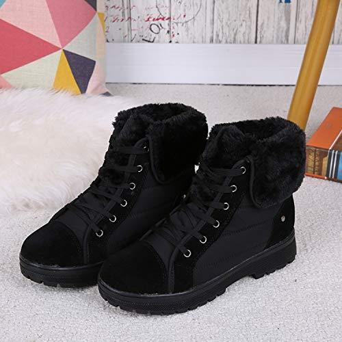 HOESCZS Frauen Schuhe Winter Wild Martin Stiefel Warme Baumwolle Schuhe Flache Stiefel Mit Anti Ski Stiefel Frauen