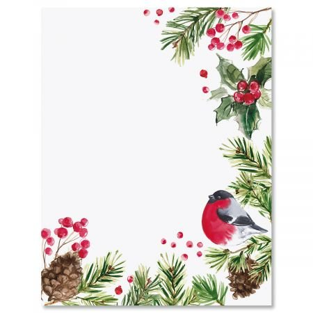 """Splash of Holiday Christmas Letter Papers - Set of 25 Christmas Stationery Papers are 8 1/2"""" x 11"""", Compatible Computer Paper"""