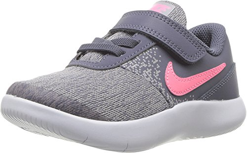 Nike Toddler Flex Contact (TDV) Light Carbon Sunset Pulse Size 10 (Boys Free Toddler Shoes Nike)