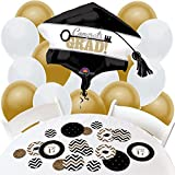 Gold Tassel Worth The Hassle - Confetti and Balloon Graduation Party Decorations - Combo Kit