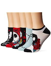 Disney womens standard Nightmare Before Christmas 5 Pack No Show Socks