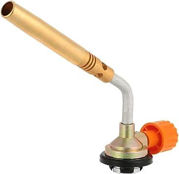 iMiMi - Linterna de soplo, 1300º, butano, lanzallamas, quemador de mano de encendido para camping, soldadura, barbacoa, herramienta de latón, ...