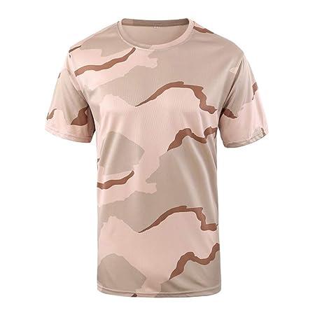 LUCKGXY Camiseta de Camuflaje de los Hombres, Tanque de Combate ...