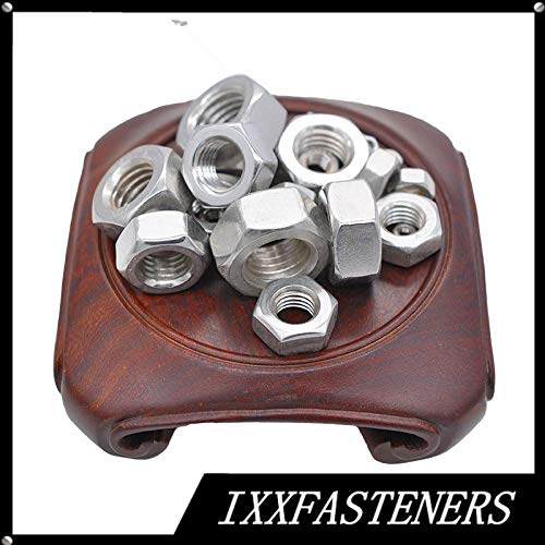 Nuts 1/2 5/8 3/4 7/8 1-1/8 1-1/4 1-3/8 1-1/2 Heavy Hex Nuts 304 Stainless Steel A2 ANSIB18.2.2 - (Size: 1 3-8 (5PCS)-8Thread)