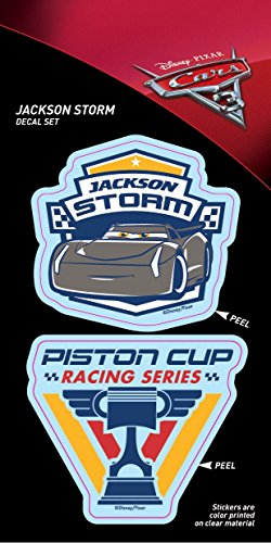 Cars 3 ST PCRS3 STRPC02_4b8_3 Decal (Jackson Storm and Piston Cup 4x8 Tri-Language)
