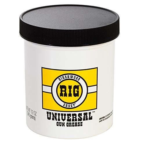 Birchwood Casey RIG Universal Grease 12 Ounce Jar SKU: 40045 with Elite Tactical Cloth by Birchwood