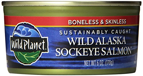 Boneless Salmon (Wild Planet Sockeye Salmon, Skinless & Boneless, 6 Ounce Can (Pack of)