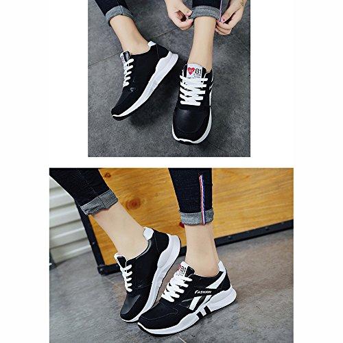 Coreana Fondo No Xiaolin Studente Nero Shoes Scarpe Sportive Traspiranti Versione 55 Spesso Y0Yqf