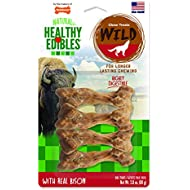 Nylabone Healthy Edibles Wild Bison Dog Treats | All Natural Grain Free Dog Treats Made In the USA Only | Small and Large Dog Chew Treats | 4 Count