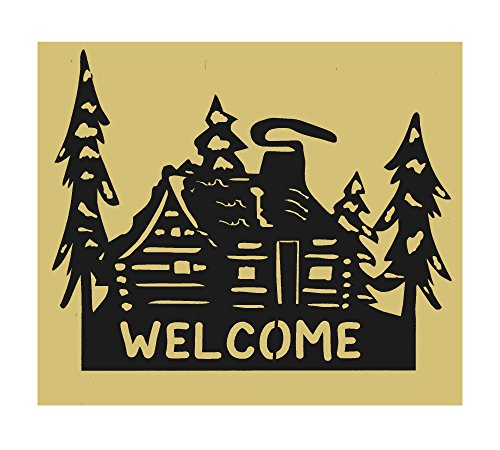 Cabin, Cabin Welcome Sign, Lodge,Northwoods,Metal Art,Gift, Welcome sign, Approximate Size 19 1/2
