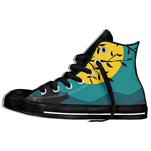 Classiche Sneakers Alte Scarpe Di Tela Anti-skid Birds Casual Da Passeggio Per Uomo Donna Nero