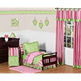 Pink and Green Olivia Girls Boutique Toddler Bedding 5 pc set