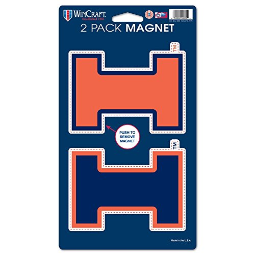 WinCraft NCAA University of Illinois WCR29039014 Magnets (2 Pack), 5