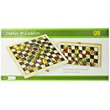 Folding Wooden Snakes and Ladders Game