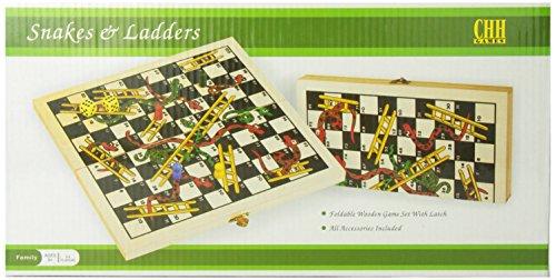 Recreational Wooden Snakes Ladders Folding