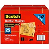 """Office Products : Scotch 3M Bubble Mailers Size 0 (6"""" x 9"""") - 25ct"""