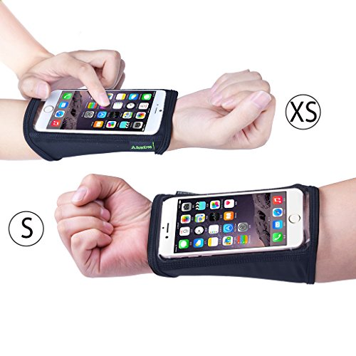 Avantree iPhone 7 / 6 / 6S Touch Screen Forearm Band (2 Pack, XS+S for Petite Women), Wristband, Running Armband with Key ID Cash Holder for Fitness, Gym