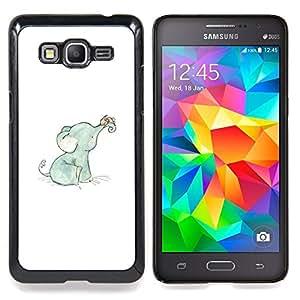 For Samsung Galaxy Grand Prime SM-G530F G530FZ G530Y G530H G530FZ/DS , Elefante dulce del bebé azul blanco azul - Diseño Patrón Teléfono Caso Cubierta Case Bumper Duro Protección Case Cover Funda